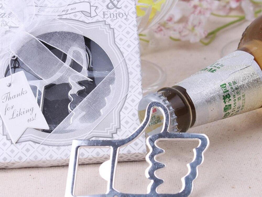 lastest fashion alloy metal pthank you for like us finger bottle opener summer on beach for Wedding Party favor decor Gift