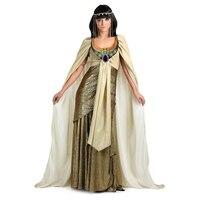 Sedutor E Poderoso Adulto Golden Estilo Egípcio Antigo Cleópatra Mulheres Traje Certo Para Você Se Destacar Na Festa do Dia Das Bruxas