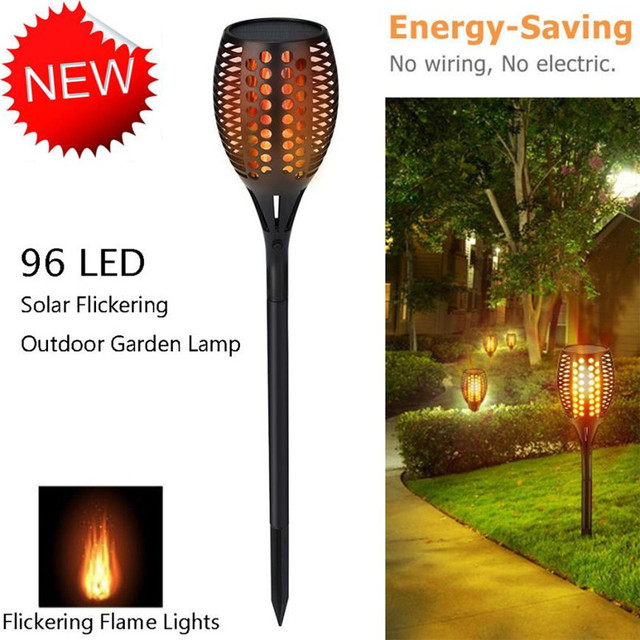 Solar path lights led garden torch light flame lighting 96 led solar path lights led garden torch light flame lighting 96 led flickering outdoor landscape garden pathways workwithnaturefo