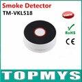 10 ШТ. Home Security Крытый Дыма TM-VKL518B литиевая батарея детектор Дыма с СВЕТОДИОД мигает красным и звуковой сигнал детектор дыма