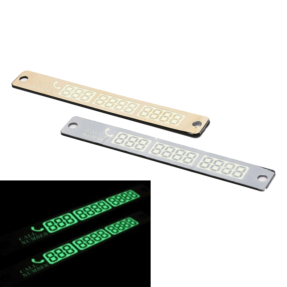 Luminous Car Parking Notification Phone Number Card Number Suction Plate Tool