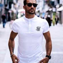 Men Brand Fashion Summer Kanye West Sik Silk Men Casual Hip Hop Irregular cut Button Short