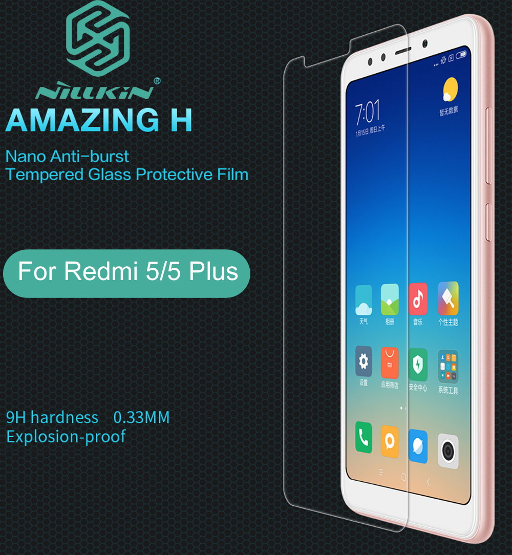 Nillkin Amazing H Tempered Glass For Xiaomi Redmi 5 Plus 5.7 5.99 inch oleophobic Protective