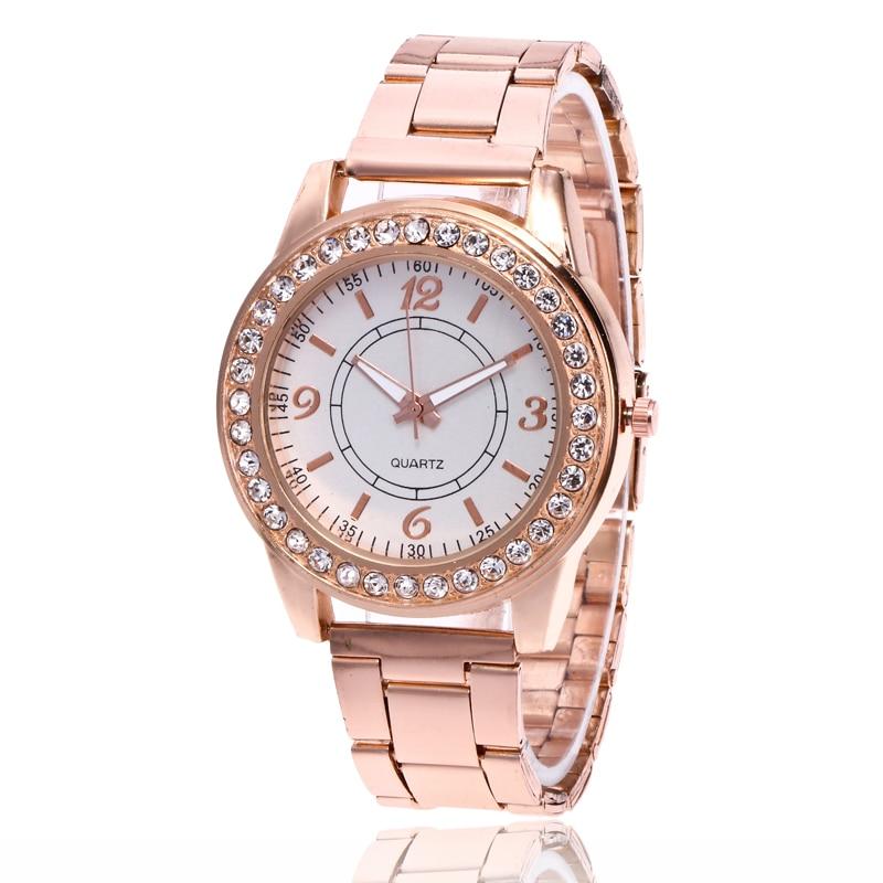 2017 New Quartz-watch Women Dress Watches Luxury Fashion Brand Ladies Metal Bracelet Stainless Steel Vogue Watches Silver Watch
