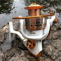 Carretel de pesca girando 500-9000 séries carretel de metal roda de fiação para pesca de mar carpa