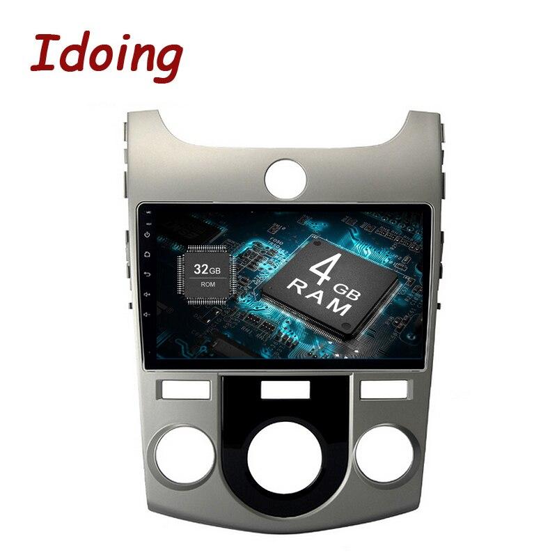 Idoing 1Din 9 4 gb + 32 gb 8 Core Pour Kia Cerato Nazao Forte Android8.0 Voiture GPS Lecteur volant Navigation Rapide Démarrage NO DVD