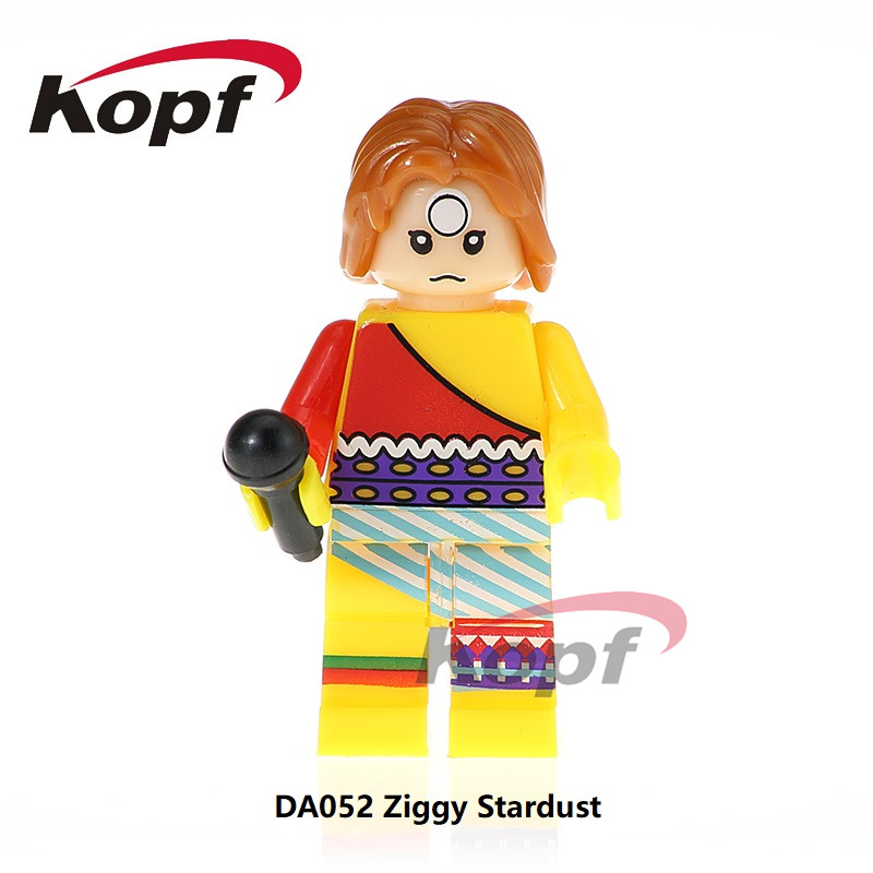 Single Sale Super Heroes Ziggy Stardust Blade David Bowie Rebel Rebel Bricks Collection Building Blocks Children Gift Toys DA052