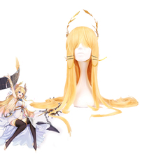 New Arrival Azur Lane Victorious Cosplay Headwear Halloween Carnival Long Golden Cosplay Synthetic Hair