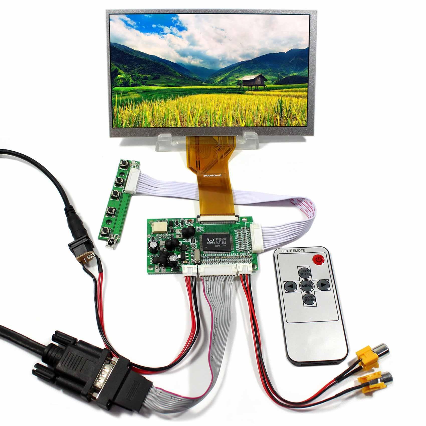 VGA 2AV LCD Controller Board+7inch AT070TN93 EJ070NA 03A 800x480 LCD Screen board board screen controller board screen board - title=