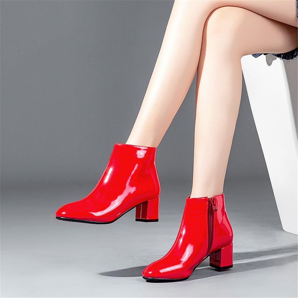 rosso Formato Modo Della Piazza Confortevole Donna Pelle Donne Stivali 32  Tacchi Sarairis Il Alta Di ... 483a0426a72
