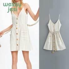 2019 new summer dress women vestidos drawstring bow tassel single breasted de fiesta party