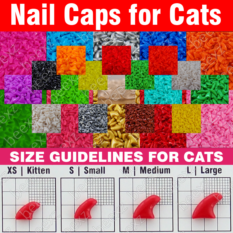 Hot selling fashion GLOW IN DARK Soft Cat Nail Caps For Cat Claws 4 ...