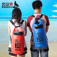 Camping Hiking PVC Dry Bag Waterproof Bag Drift Bag Traveling Double Shoulders Rafting Bag Waterproof Camera Case trecking