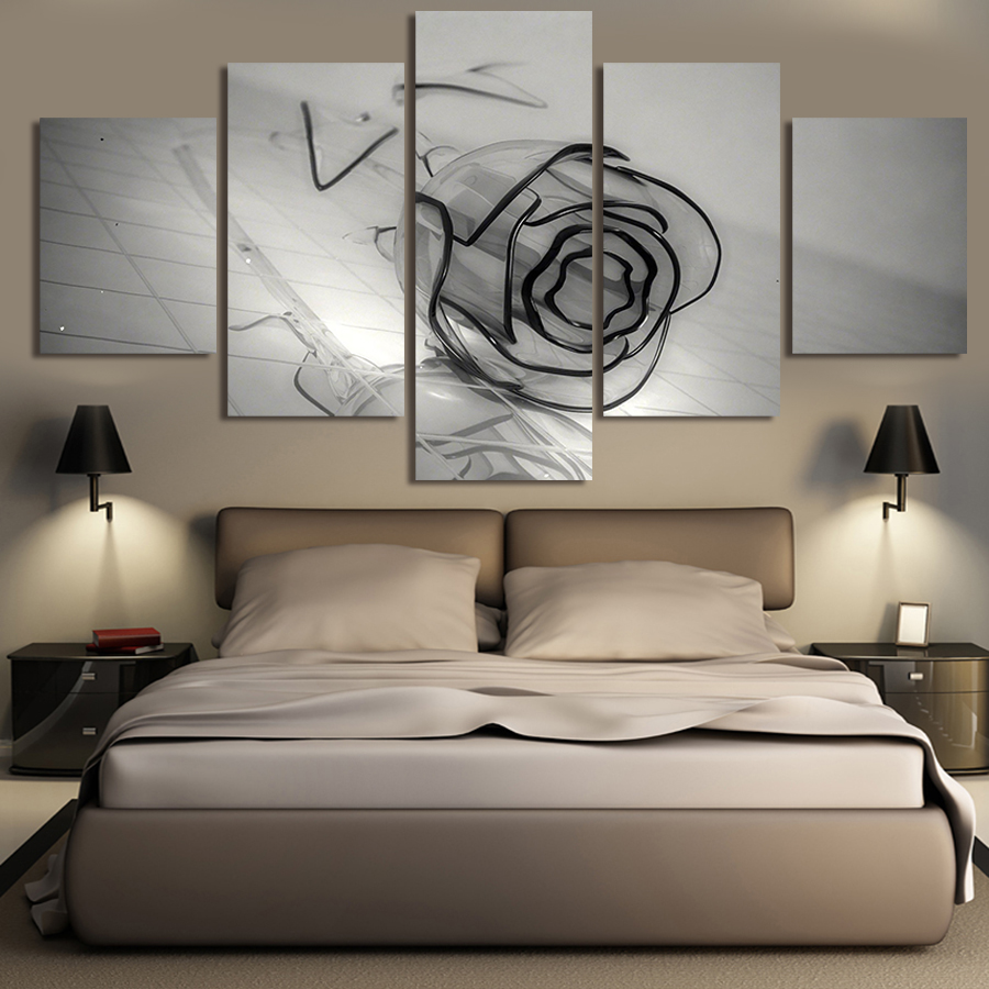 Wall Art Canvas Prints online get cheap black rose painting -aliexpress | alibaba group
