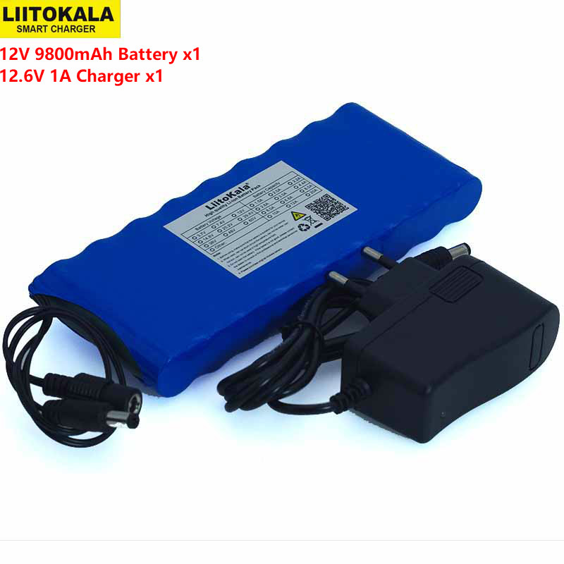 Liitokala 12 v 9.8Ah 9800 mAh 18650 batterie Rechargeable 12 V panneau de Protection CCTV moniteur batterie + chargeur 12.6 V 1ALiitokala 12 v 9.8Ah 9800 mAh 18650 batterie Rechargeable 12 V panneau de Protection CCTV moniteur batterie + chargeur 12.6 V 1A