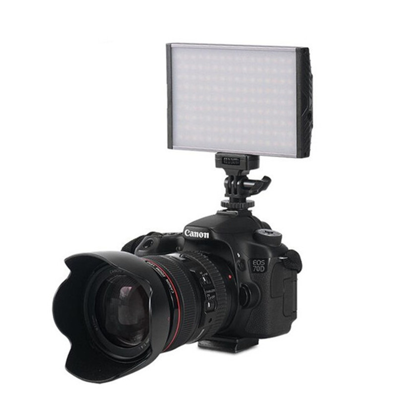 Ultra Thin LED Light Photography For Sony LED a6000 Adjustable 3200K 5500K Lamp Panel Flash Camera Light For Nikon Canon 1300D