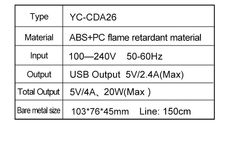 4 Ports Smart USB Charger Adapter Station HUB Led Display (4)