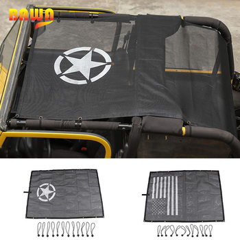 цена на BAWA Car Cover for Jeep Wrangler TJ 1997-2006 PVC SunShade Roof Top Mesh UV Proof Protection Accessories for Wrangler tj  4 Door