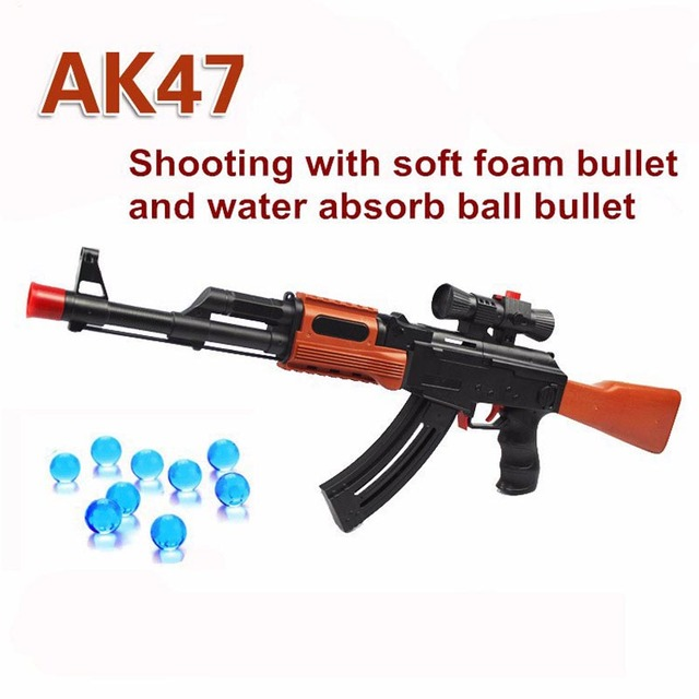 Hot Sale Large AK47 CS Toy Gun Soft Foam Bullets Pistol Game Water Gun  Crystal Nerf