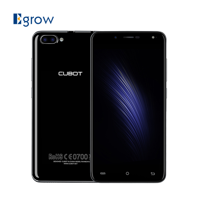Original Cubot Rainbow 2 MTK6580A Quad Core Android 7.0 Mobile Phone 2 Back Camera 5.0 Inch Cell Phone 1G RAM 16G ROM Smartphone