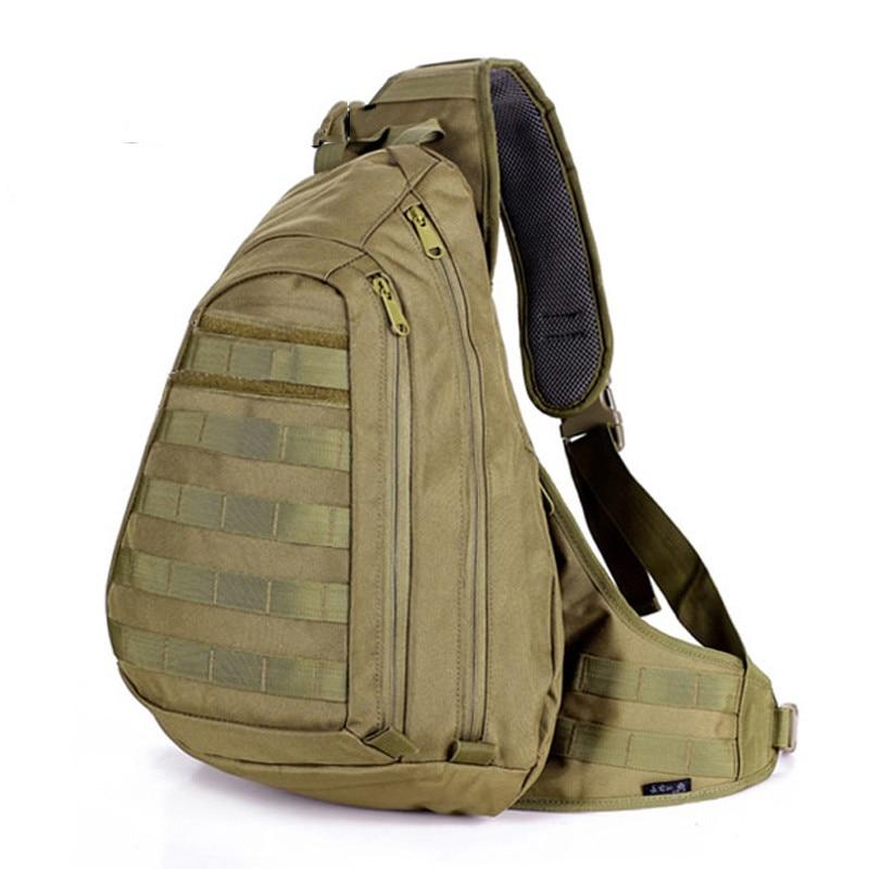 Baru 2016 meninju beg tentera Sling ransel Lelaki molle sling ransel Satu Single Bahu Man besar beg ransel swat beg