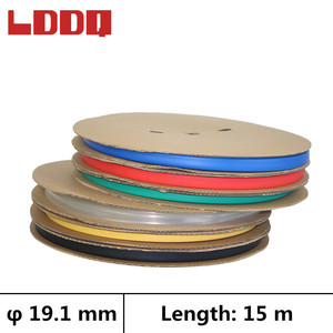 LDDQ 15m Heat shrink tube 3:1 Adhesive with glue Dia 19.1mm Wire wrap Cable sleeve Seven color Shrinkable tubing termorretractil