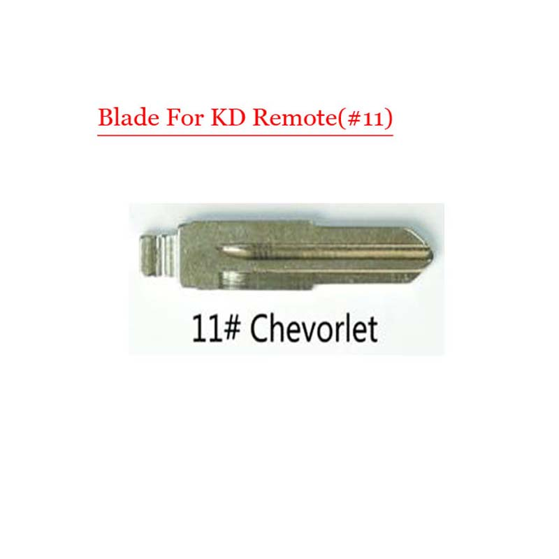 Metal Blank Uncut Flip Remote Key Blade  Type 11# Replacement For Chevrolet 10pcs/lot free shipping 10 pcs lot metal blank uncut flip kd remote key blade type 50 for hyundai tucson