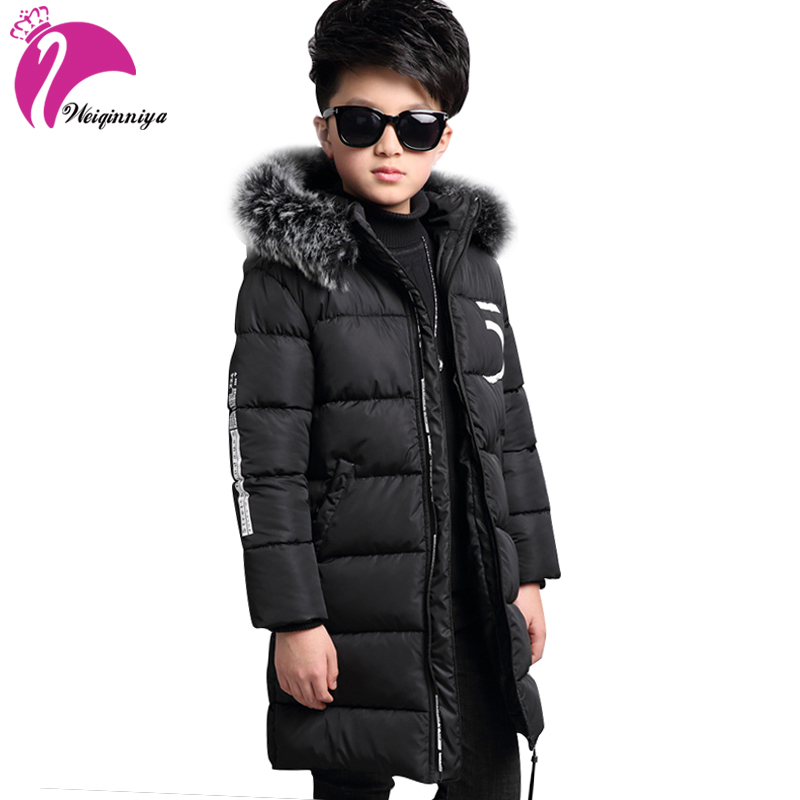 Children's Winter Jackets  For Boys Fashion Boy Thicken Children Down Coats Outerwear Warm Tops Clothes Big Kids Clothing 2017 new winter jackets for boys fashion boy thicken snowsuit children down coats outerwear warm tops clothes big kids clothing