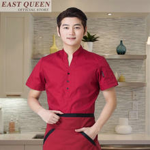 Chinese waiter uniform work wear suits women 2 piece set top and pants restaurant waitress uniform coffee shop clothes FF384 A(China)