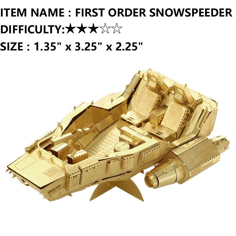JWLELE@Star Wars 3D Metal Model Puzzles FIRST ORDER SP golden Chinese toy brass Military Series Creative Gifts