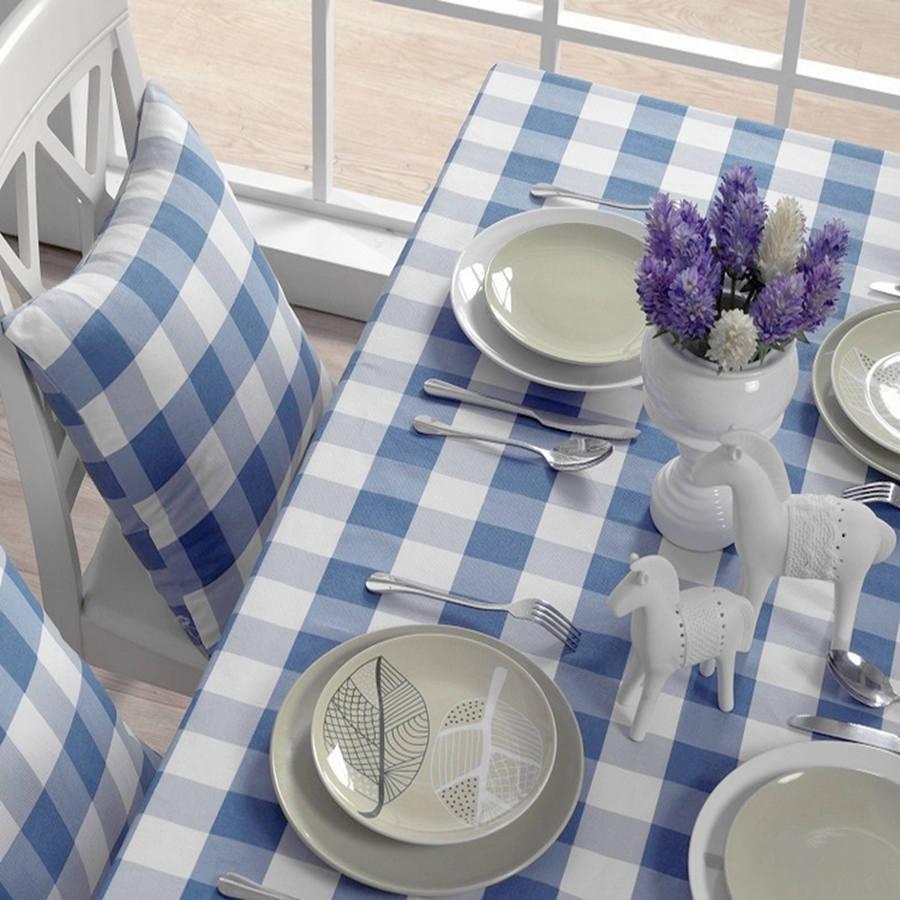 Blauw wit tafelkleed koop goedkope blauw wit tafelkleed loten van ...