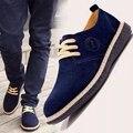 Envío libre invierno primavera hombres zapatos casuales zapatos de Cuero Genuino De la nueva manera de los hombres bajos pisos
