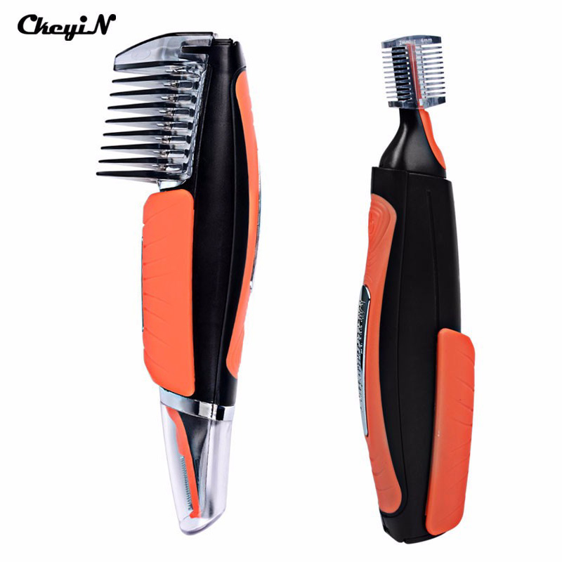 CkeyiN 2017 Original Micro Trimer Hair Cutter Clipper For Men Ear Sideburns Eyebrow with 4 Combs Cleaner Machine Styling Kit chuxin solid wood 3 anti static combs kit with cask 3 sizes beech combs with massage function for scalp oval sculpt