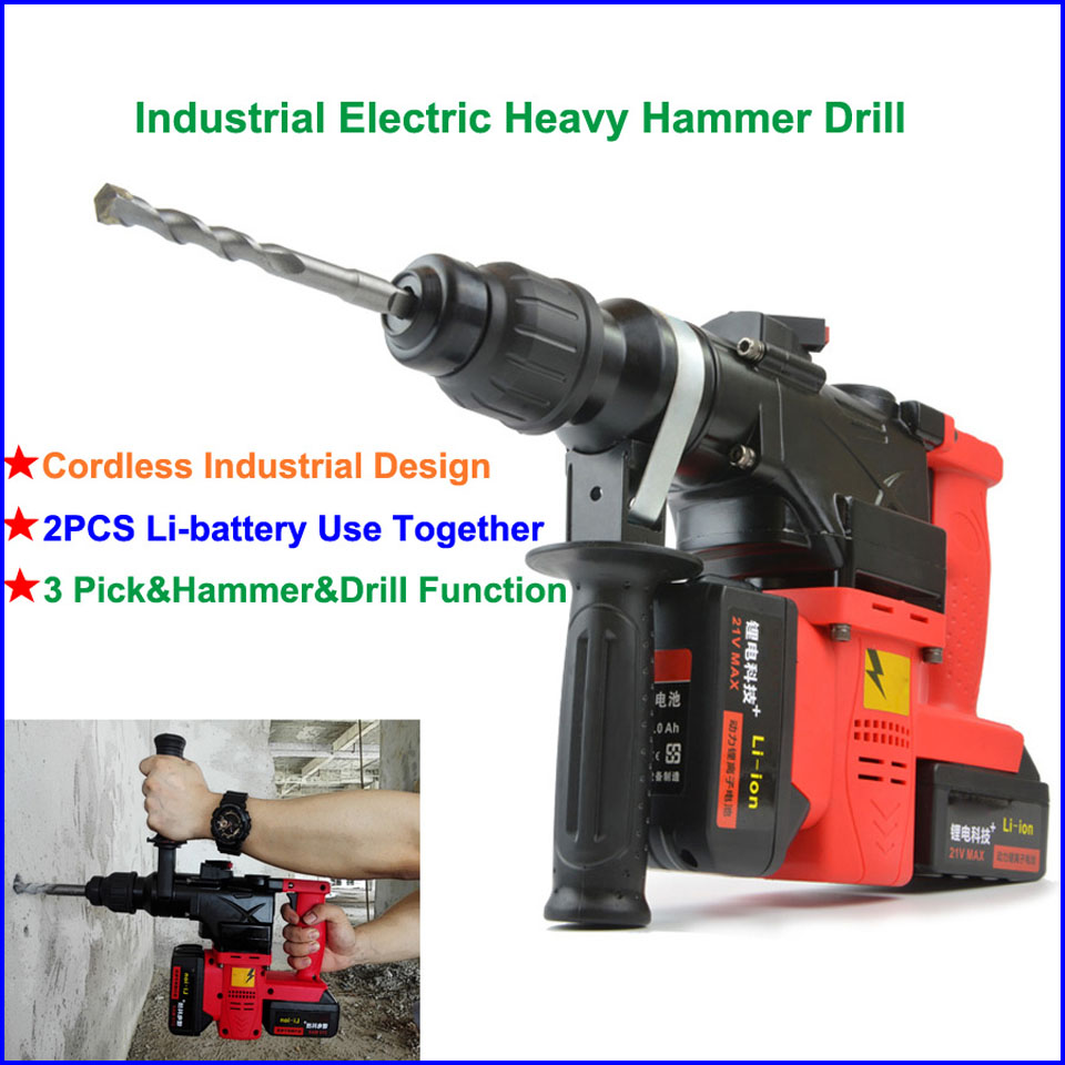 Waterproof Brushless Cordless Lithium Batter Electric Heavy Hammer Drill-01