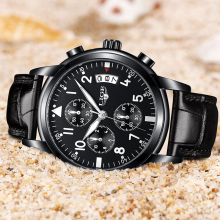 LIGE Luxury Waterproof Watch