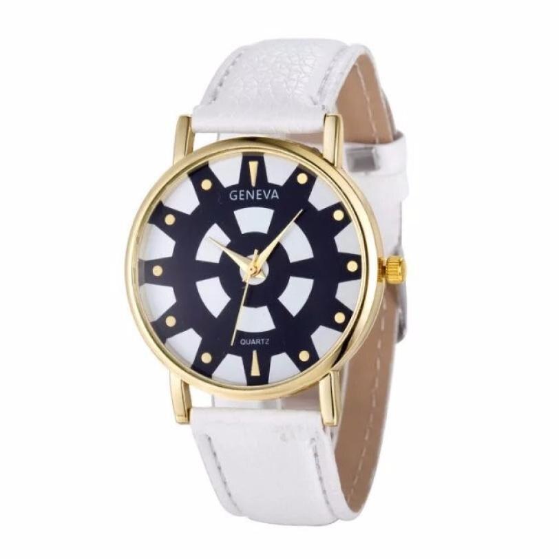 Moment # N03 Dropship Geneva Watches Fashion Women's Watch Stainless Steel Leather Quartz Wrist Watch dress Ladies Watch Newest
