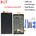 High Quality Lumia 820 LCD Display For Nokia lumia 820 With Touch Screen Digitizer Assembly + Frame