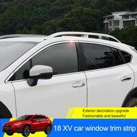 QHCP 8 шт./компл. Нержавеющаясталь газа окна автомобиля отделка Декоративные наклейки аксессуары внешний автоматический специально для Subaru