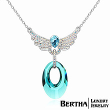 High Quality Crystals From Swarovski Wings Necklaces & Pendants Choker Luxury Chain Necklace Women Jewelry Accessories Gift