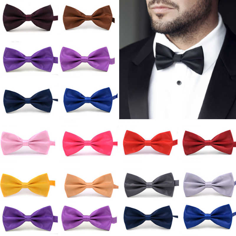 Moda 1 pc cavalheiro gravata borboleta ajustável nó gravata presentes para homens christmasmen clássico cetim gravata borboleta para festa de casamento