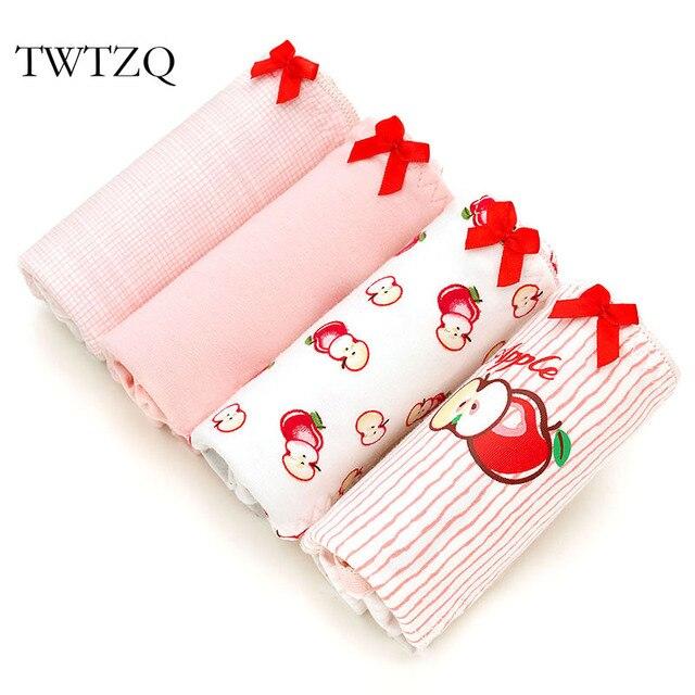 b1038a27b TWTZQ Apple Bonito Cuecas Listradas Arco Roupa Interior Das Mulheres  Calcinha Sexy Calcinha de Algodão Rosa