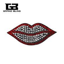 Rhinstone Red Lip Brooch Jewelry Gift Whosale