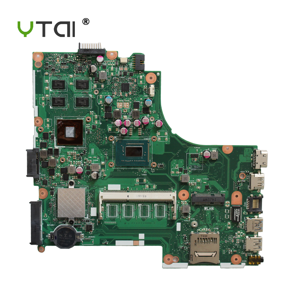YTAI i3-3217U processor 2G for ASUS X450CC Laptop Motherboard i3-3217U REV2.3 HM76 USB3.0 2G graphics card Mianboard 100% tested for asus x450cc laptop motherboard i3 3217u 2g video memory x450cc motherboard 4g ram rev2 3 100% tested