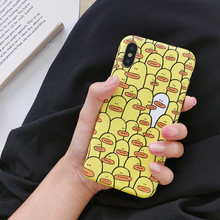 hot deal buy korean cartoon duckling phone case for iphone x 6 6s 7 8 plus cases cute tpu soft back cover for coque iphone 7 plus fundas capa