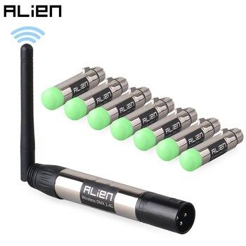 ALIEN DMX512 Dfi controlador 2,4G transmisor receptor inalámbrico para Disco DJ fiesta Bar etapa Par cabeza móvil rayo láser iluminación