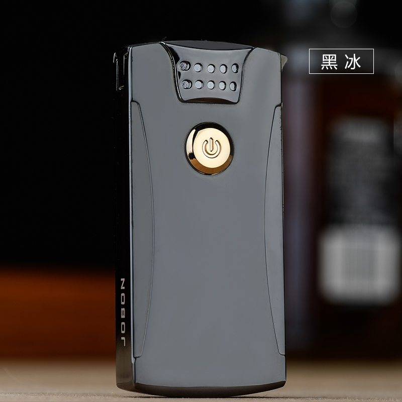 2018 NEW Electronic Cigarette Lighter Windproof Men Smoking Lighter Thunder Metal Pulsed Arc Flameless Lighter Ultra