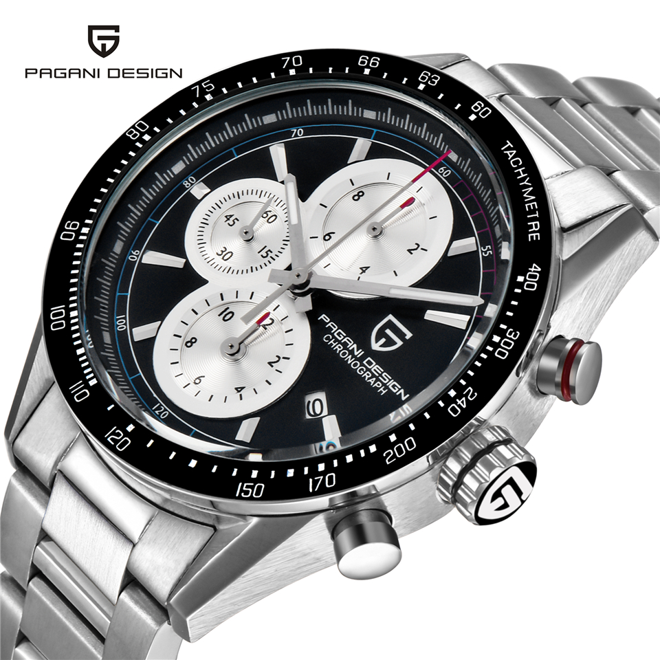 PAGANI ONTWERP Luxury Brand Militaire Horloge Mannen 50 M Waterdichte Sport Quartz Horloge Kalender Klok Man Saat Relogio Masculino-in Quartz Horloges van Horloges op  Groep 2