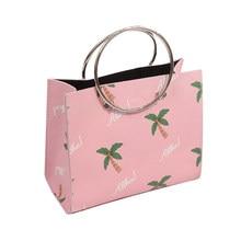 Cute Girl Summer Beach Tote Women Composite Bags Lady Messenger Crossbody  Bag Leisure Cute Handbag Coconut Tree Print HandBags 35bf20200f75d