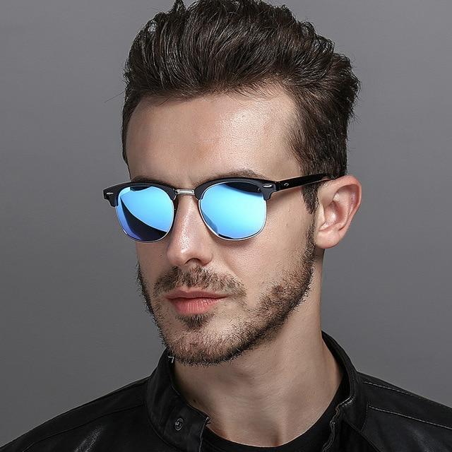 dd15693a80 2018 New Fashion Semi Rimless Polarized Sunglasses Men Women Brand Designer  Half Frame Sun Glasses Classic