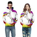Мода пары толстовки 3D печати единорог толстовка унисекс хип-хоп harajuku толстовки мужчины женщины прохладный костюм brand clothing